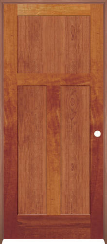 Mastercraft Cherry Flat Mission 3 Panel Prehung Interior Door At Menards