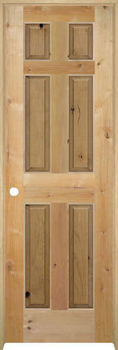 Mastercraft Knotty Alder Raised 6 Panel Prehung Interior Door At Menards