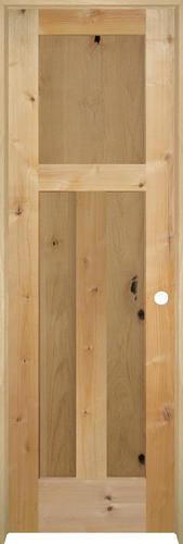 Mastercraft knotty alder flat mission 3 pnl prehung interior door at menards for Mastercraft prehung interior doors