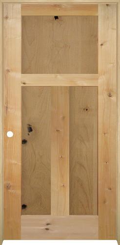 mastercraft knotty alder flat mission 3 pnl prehung interior door at menards. Black Bedroom Furniture Sets. Home Design Ideas