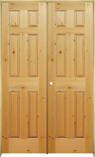 Mastercraft Knotty Pine Raised 6 Panel Prehung Interior Double Door At Menards