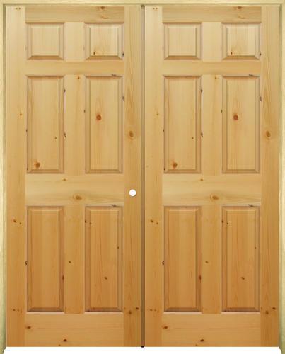 Mastercraft Knotty Pine Raised 6 Panel Prehung Interior