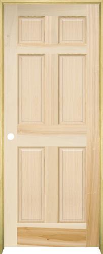 Mastercraft poplar raised 6 panel prehung interior door at menards for Mastercraft prehung interior doors