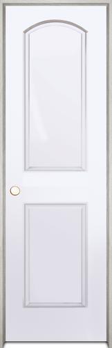 Mastercraft primed arch 2 panel hollow prehung interior door at menards for Mastercraft prehung interior doors
