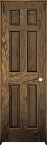 Mastercraft Pref English Chestnut Oak 6 Panel Prehung Interior Door At Menards