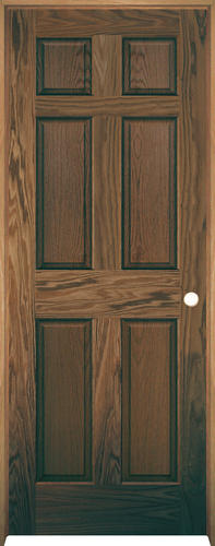 Mastercraft Pref English Chestnut Oak 6 Panel Prehung