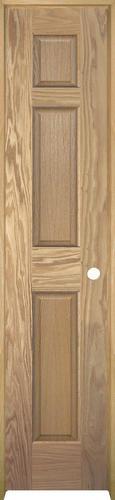 Mastercraft unfinished oak 6 panel prehung interior door for 18 x 80 prehung interior door