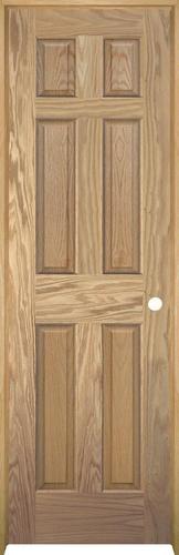 Mastercraft Unfinished Oak 6 Panel Prehung Interior Door At Menards