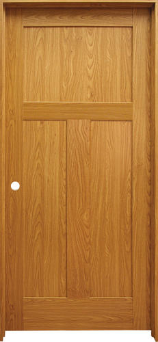 Mastercraft Prefinished Craftsman Flat 3 Panel Prehung Interior Door At Menards