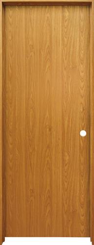 Mastercraft Prefinished Wheat Oak Hollow Core Flush Prehung Interior Door At Menards