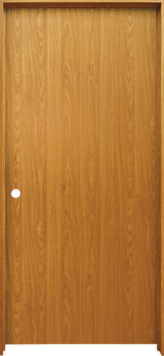 Mastercraft 36 X 80 Prefinished Wheat Oak Hollow Core Flush Prehung Interior Door Right Inswing