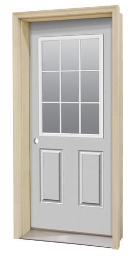 Commander C 4 Primed Steel 9 Lite Prehung Ext Door At Menards