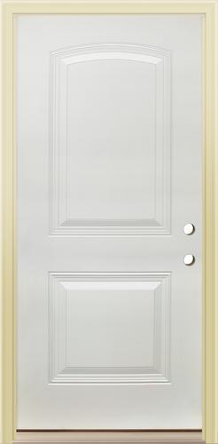 Mastercraft Arched 2 Panel Primed Steel 36 X 80 High Prehung Ext Door At Menards