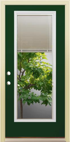 Mastercraft lt 8 green full lite steel prehung ext door - Menards exterior doors with glass ...