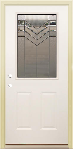 Mastercraft As 106 Half Lite Primed Steel Prehung Ext Door At Menards