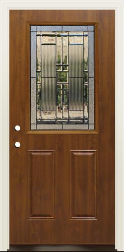 Mastercraft La 656 Steel Dark Oak Half Lite Prehung Ext Door At Menards