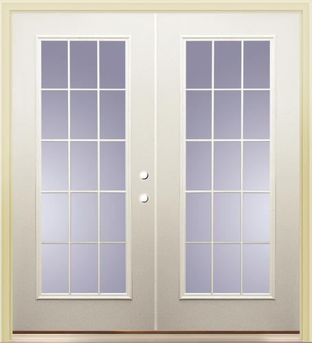 Mastercraft primed steel p 9 72 x 80 15 lite french for 15 lite door