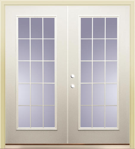 Mastercraft primed steel p 9 low e 72 x 80 15 lite for 15 french door