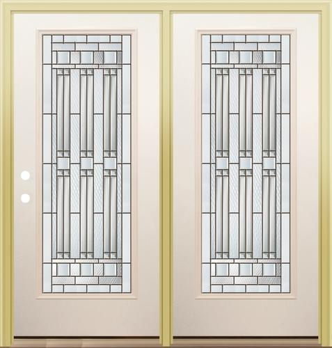 Mastercraft me 686 primed steel 72 x 80 full lite center for Center hinged patio doors