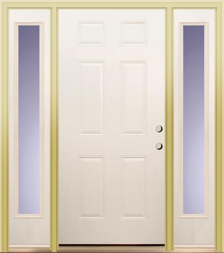 Mastercraft Prehung 36 X 80 White Primed E 1 Steel Door