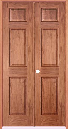 Mastercraft cherry 6 panel prehung interior double door at menards for Mastercraft prehung interior doors
