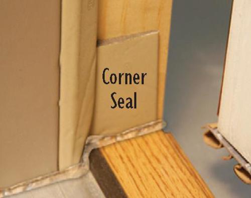 Mastercraft 174 Corner Seal Weatherstrip For Exterior Doors