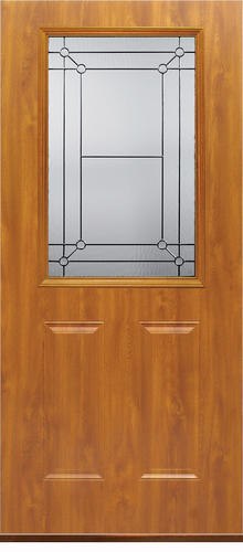 Mastercraft FL 106 Light Oak Steel Half Lite Ext Door Slab Only At Menards