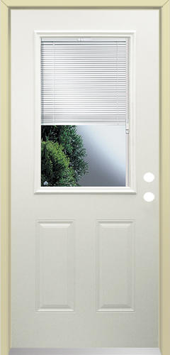 Mastercraft LT 10 Steel Half Lite With Blinds Prehung Ext Door At Menards
