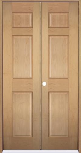 Mastercraft 36 X 80 Maple 6 Panel Prehung Interior Double Door Right Inswing