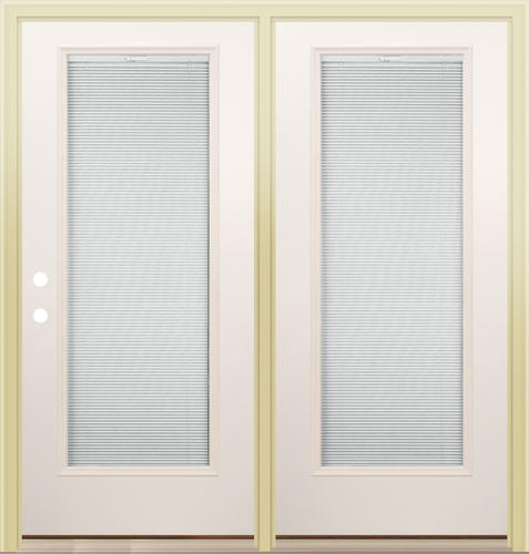 Mastercraft Patio Doors Mastercraft LT 8 Primed Steel 72 X 80 Ctr Hinge Low  E .