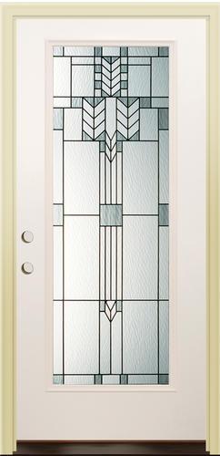 Mastercraft Mo 686 Morrison 32 X 80 Primed White Steel Full Lite Prehung Exterior Door
