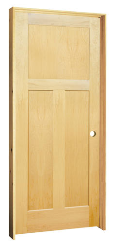 Mastercraft Maple Flat 3 Panel Prehung Interior Door At Menards