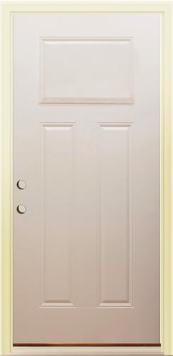 Mastercraft 3 Panel 36 X 80 Primed Steel Prehung Ext