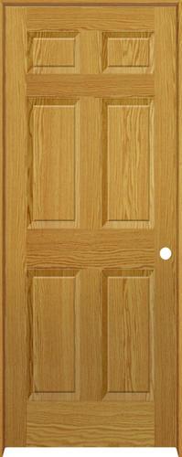 mastercraft oaktowne 6 panel prefinished prehung interior door at menards. Black Bedroom Furniture Sets. Home Design Ideas