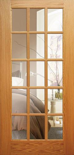 mastercraft oak 15 woodlite interior door only at menards. Black Bedroom Furniture Sets. Home Design Ideas