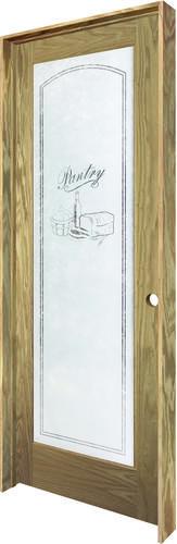 Mastercraft 174 24 Quot X 80 Quot Veneered Oak Pantry Lite Prehung