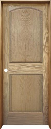Mastercraft oak arched raised 2 panel prehung interior door at menards for Mastercraft prehung interior doors