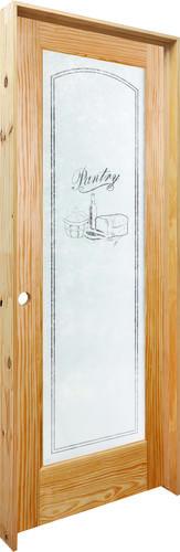 Mastercraft 30 x 80 veneered pine pantry lite prehung interior door right swing into pantry for Mastercraft prehung interior doors