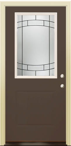 Mastercraft sv 106 burnished slate steel 36 x 80 prehung for Prehung exterior doors with storm door