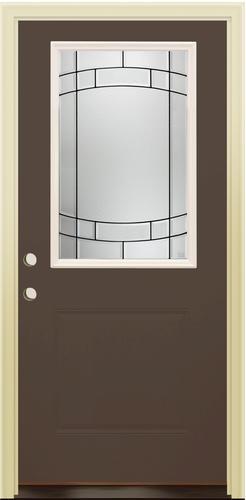 Mastercraft Sv 106 Burnished Slate Steel 36 X 80 Prehung Exterior Door Right Inswing At Menards