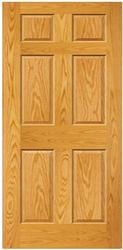 Mastercraft Prefinished Golden Oak Raised 6 Panel Interior Door Only At Menards