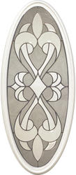 "Mastercraft® SR-930 St. Rafael 14"" x 37"" Oval Glass for Exterior Door"