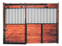 12' Horse Stall Door and Wall Section