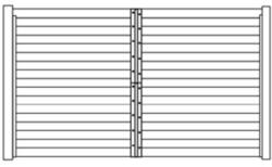 Horse Stall Partition Section