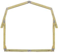 8' Gambrel Barn EZ Build Storage Building Frame