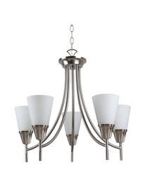 "Madelyn 5-Light 20.25"" Brushed Steel Chandelier"