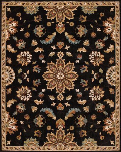 """Natco Fregio Alhambra Black Area Rug 7'11"""" X 9'10"""" At Menards®"""