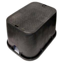 "14"" x 19"" Valve Box with Overlapping Bolt-Down Cover-Water"