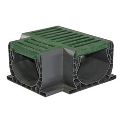 Spee-D Channel Fabricated Tee with Grate, Green