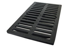 "12"" x 20"" Cast Iron Heavy Traffic Channel Grate"